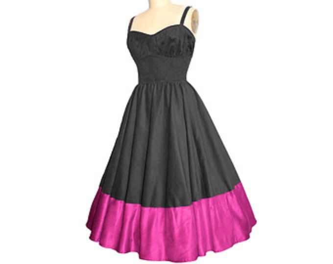 Flattering #1950sVintageStyle #PinUp #BombshellDress... your Colors...your Measurements...