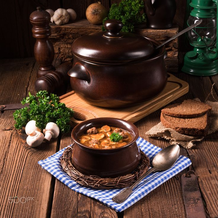 True North German mock turtle soup with mushrooms - True North German mock turtle soup with mushrooms