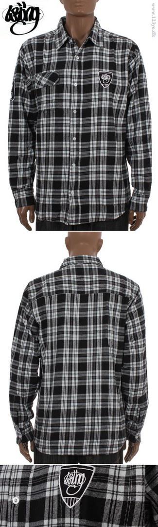 Wrung Division langærmede flannel skovmandsskjorte - køb langærmede skjorter hos www.123yo.dk