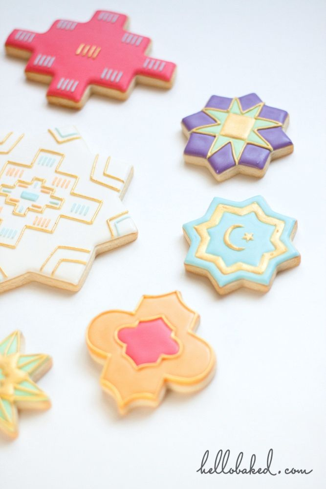 Eid cookies designed by hellobaked using cookie cutters by helloholydays