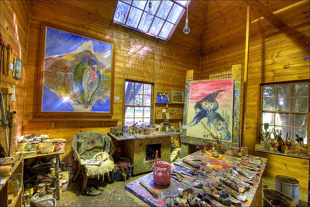 Arthur Boyd Studio - The preserved studio of the late Arthur Boyd in the quiet hills of the Shoalhaven region of NSW. Open to visitors and a national treasure. I would like to thank the guide who allowed me a quick tripod setup.