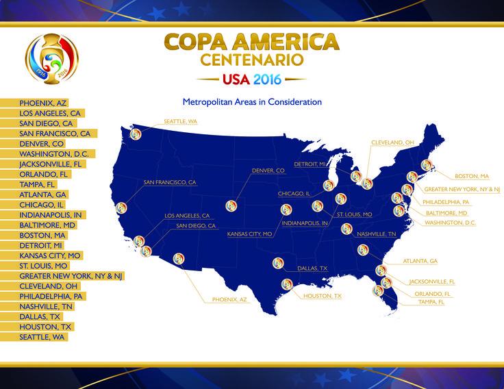 Venue Selection Process for Copa America Centenario USA 2016 Includes Interest from 24 Metropolitan Areas - U.S. Soccer