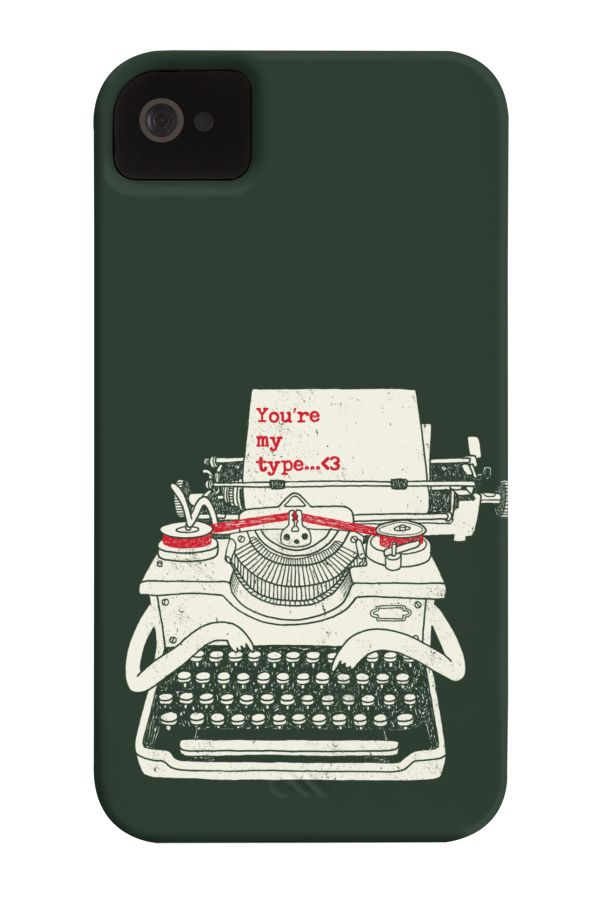 Your my Type Barely There Phone Case. This one will be your type of case Great integration of the text joke along with the typewriter character. wear this & show it to a someone you really like.  http://www.zocko.com/z/JEoRp