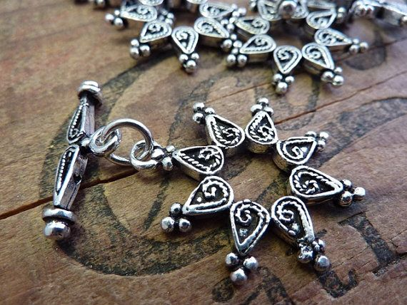 Handmade Ornate Bali Style Toggle Clasp by houseoftwinkle on Etsy, $6.25