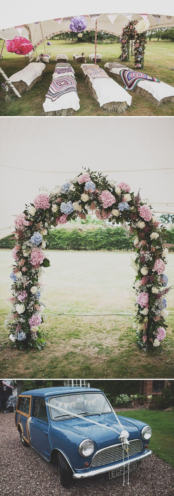 A Festival Inspired Bohemian Wedding With Wildflowers And A Floral Crown At Haslington Hall By Anna Hardy Photography. 0001 Wildflowers At W...