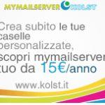 Kolst offre un mail server smtp in outsourcing da 5 GB a soli 15 euro anno