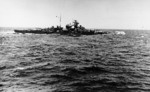 Bismarck at sea, seen from Prinz Eugen, May 1941, photo 3 of 3