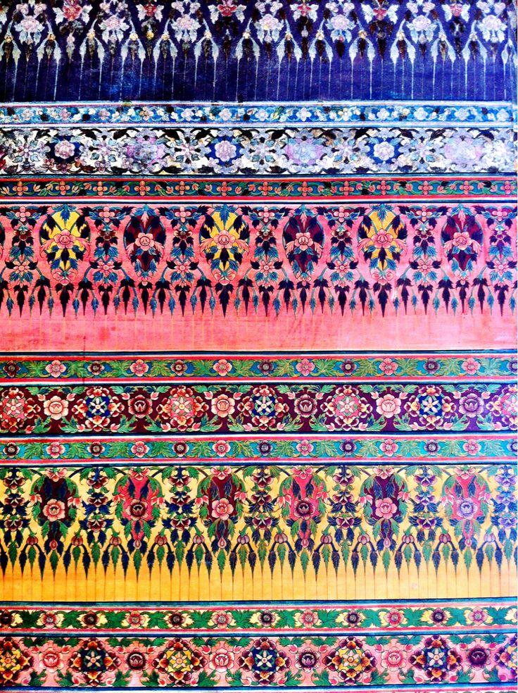 .: Colour, Prayer Rugs, Color, Art Inspiration, Hippie Patterns, Bangkok Thailand, Backgrounds, Art Design, Wall Paintings