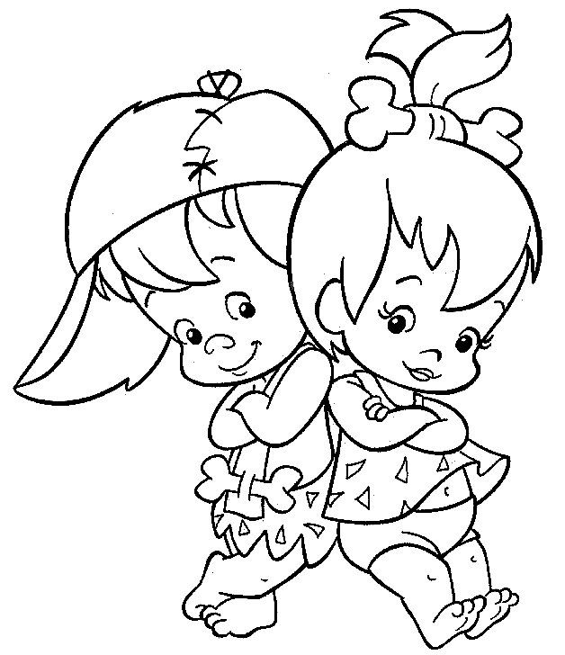 Image Detail For Name Flintstones Coloring Pages 7 Gif Tags