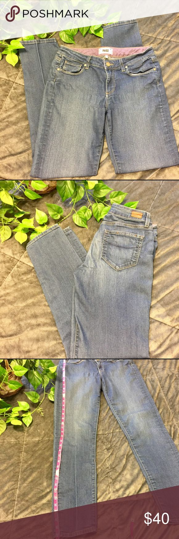 "🌷SALE🌷Paige Skyline Skinny Ankle Distressed Crop Distressed Denim And Super Comfortable!!! Skyline Skinny Ankle Jeans. Excellent Condition!! Size 28 Inseam Approx 31"" Paige Jeans Jeans Skinny"