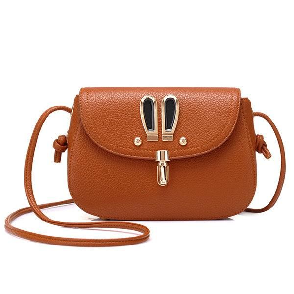 Cartoon Rabbit PU Leather Cute Style Crossbody Bags  Shoulder Bags
