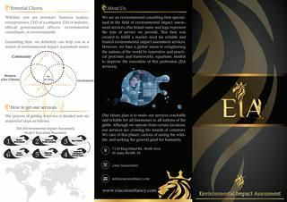 Impact Assessment Limited Corporation (Brochure-English)  A Company Flayer with a brief information in English.  Impact Assessment Ltd Co. is a consulting firm specialized in conducting Environmental Impact Assessment Studies for various types of industrial and infrastructure projects. The company is located in Riyadh City, Saudi Arabia.
