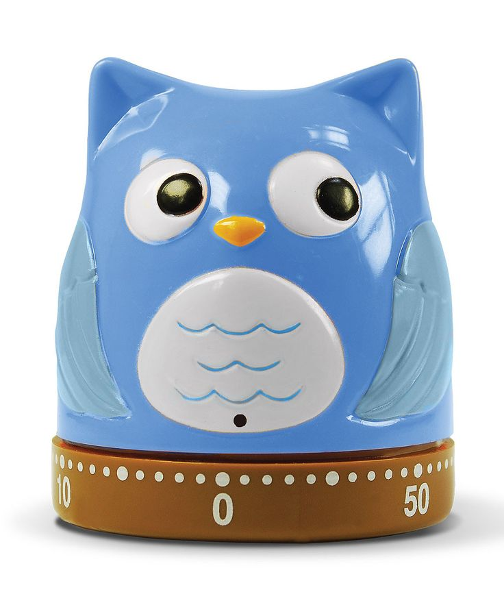 Blue Owl What a Hoot! Kitchen Timer  Pinned by www.myowlbarn.com