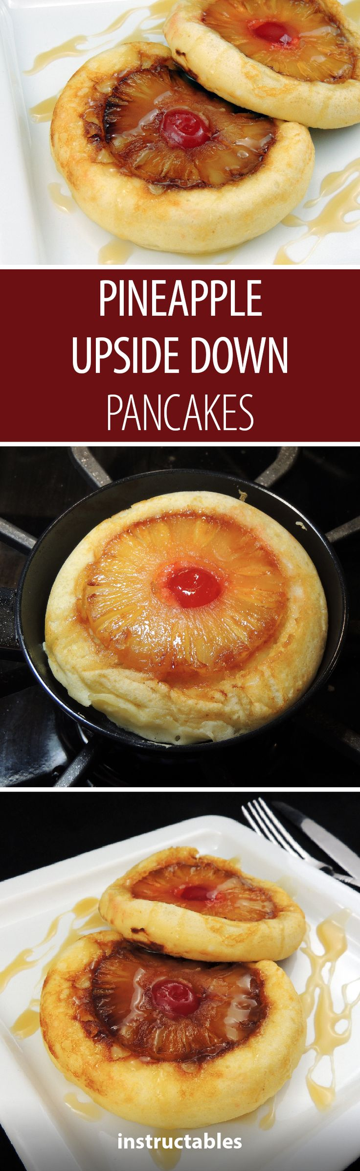 Tasty pineapple upside down pancakes that are also gluten free!