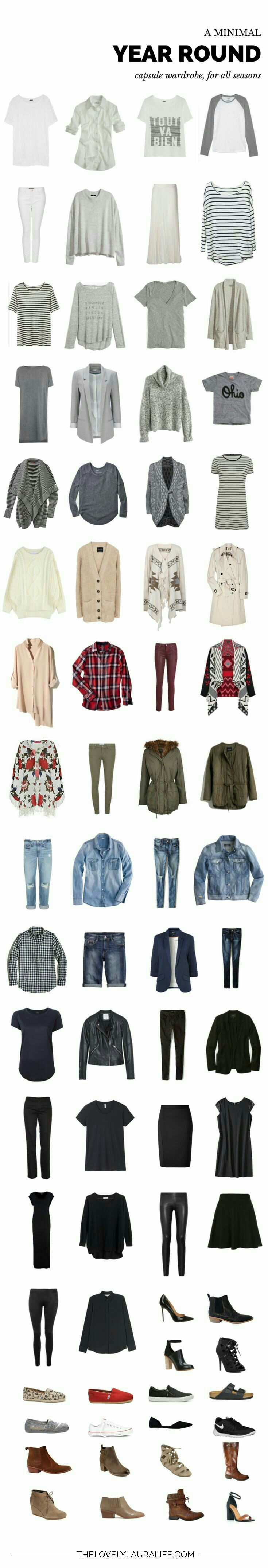 Year round (obviously for mild climate) capsule wardrobe.