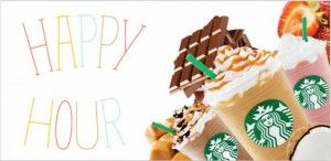 Starbucks Frappuccino® Happy Hour! From http://GiveMeFreeFood.com #Pintermission: Happy Hour, Frappuccino Happy, Half Price, Starbucks Frappuccino, Drinks