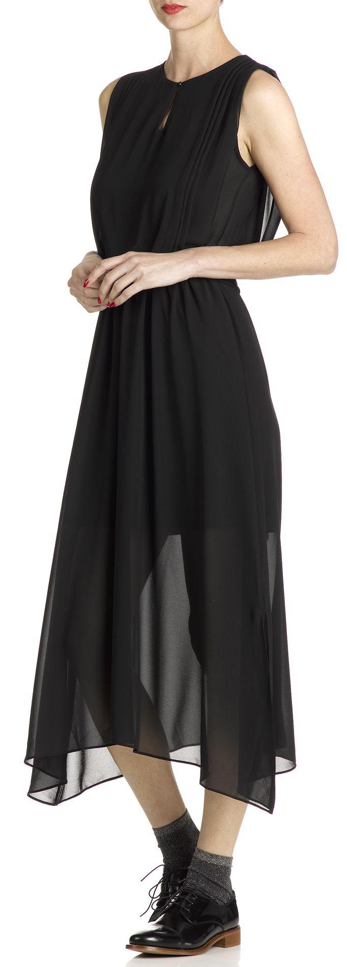 Robe en voile Noir by LA FEE MARABOUTEE