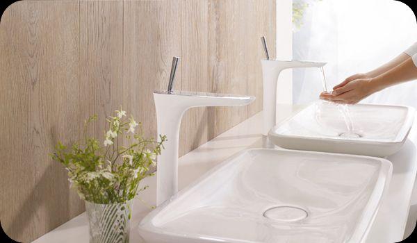 grifo-lavabo-puravida-hansgrohe. En venta en la tienda online terraceramica.es  #grifos #grifería #baños #diseño #arquitectura #terraceramica