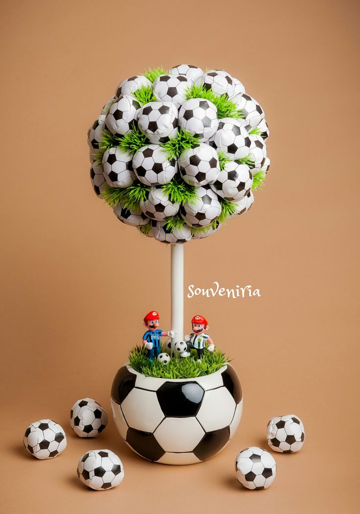 "This is an excellent idea for a sports themed boy's room. A soccer inspired topiary would perfectly tie the room together adding a great sports vibe. Height: 19"" ( 50cm ) Price: $65"