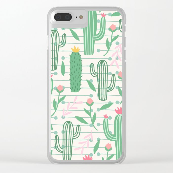 Buy cactus pc Clear iPhone Case by haroulita. Worldwide shipping available at Society6.com. Just one of millions of high quality products available.