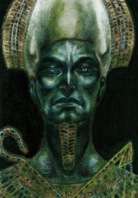 Osíris: Osíris é o filho mais velho do casal Geb e Nut. Ele reinou sobre a Terra como o primeiro faraó do Egito. Isso até ser assassinado por seu irmão Seth. Ressuscitado pela esposa, Osíris virou o juiz do mundo dos mortos.