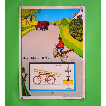 Safe Widths Bike Safety Poster - Bike Safety Posters