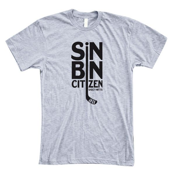 Is the penalty box your home away from home? If so, you are a sin bin citizen. This hockey shirt would make a great hockey gift for penalty taker in your life (or a gift for yourself).
