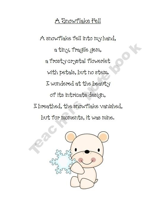 Best snowflake poems images on pinterest winter
