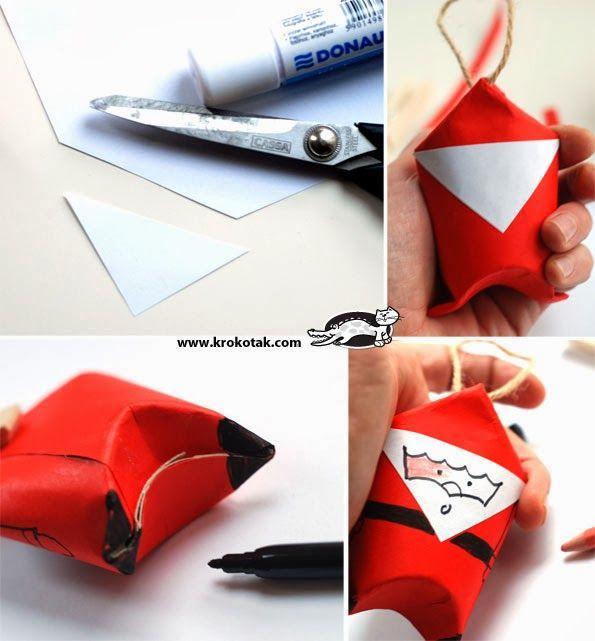 Χαριτωμένες κατασκευές, φτιαγμένες από ρολά χαρτιού που μπορούμε να φτιάξουμε μαζί με τα παιδιά, εν όψη των γιορτών. Με ελάχιστη δεξιοτεχ...