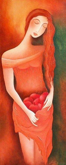 September - Malerei,  40x80 cm ©2007 von Anita Burnaz -