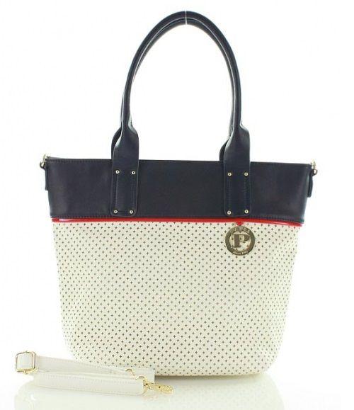 Luxusná perforovaná kabelka MONNARI PABIA MON5120-white