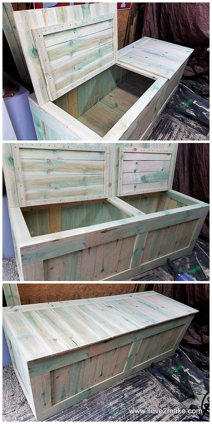 25+ best ideas about Wood Storage Box on Pinterest | Wooden toy chest, Pallet toy boxes and ...