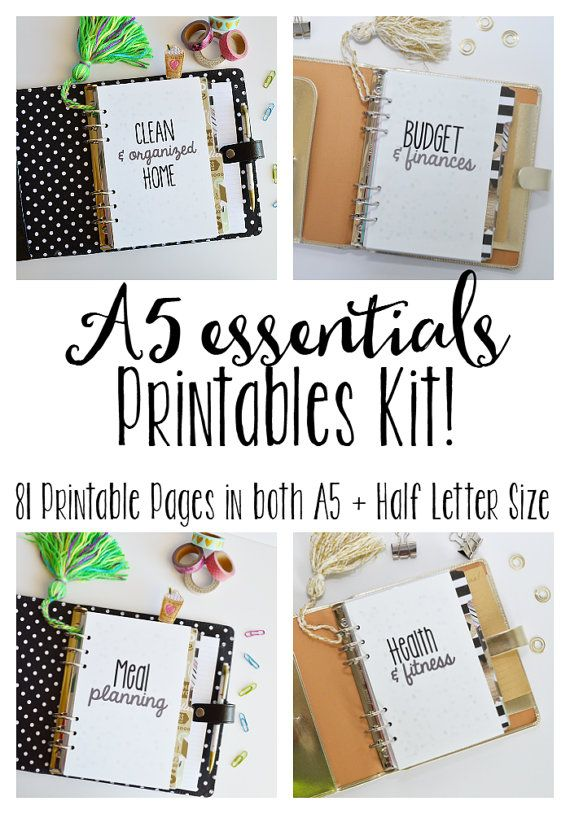 50% OFF SALE A5 Printable Planner Printable by PlanningInspired