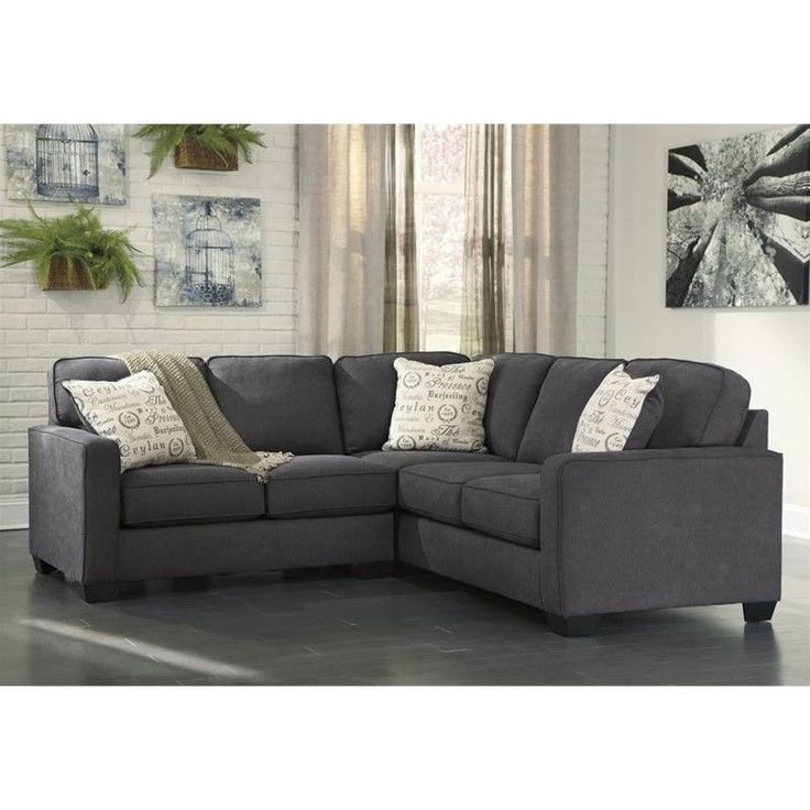 Lowest price online on all Ashley Furniture Alenya 2 Piece Sectional in Charcoal…