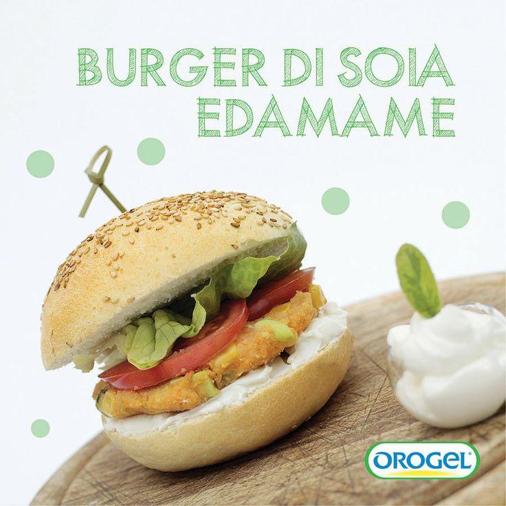 Burger di #soiaedamame con yogurt greco