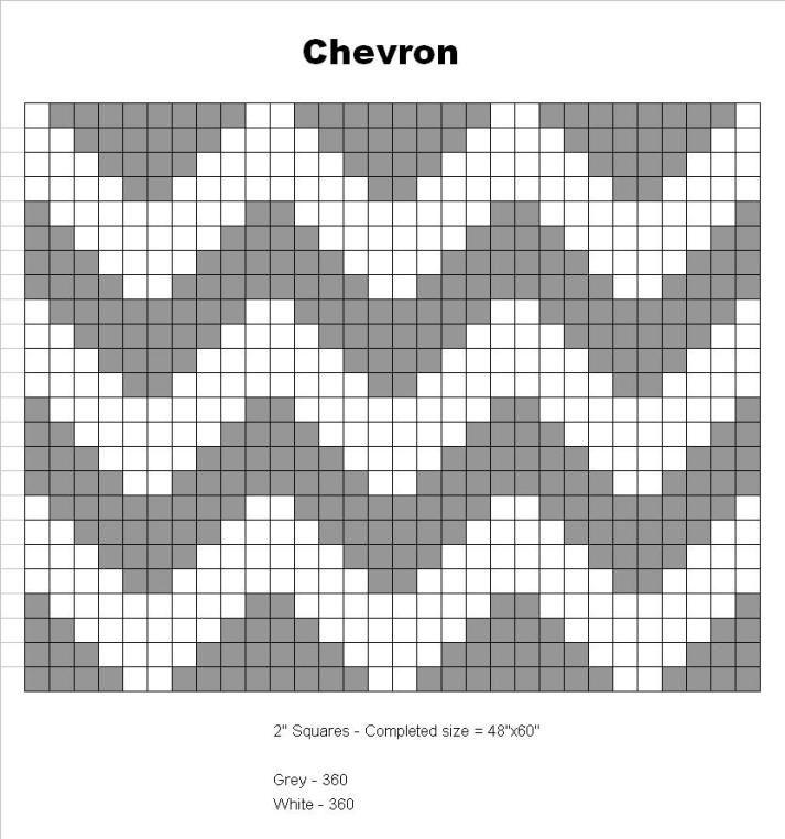 Tapestry crochet chevron graph.
