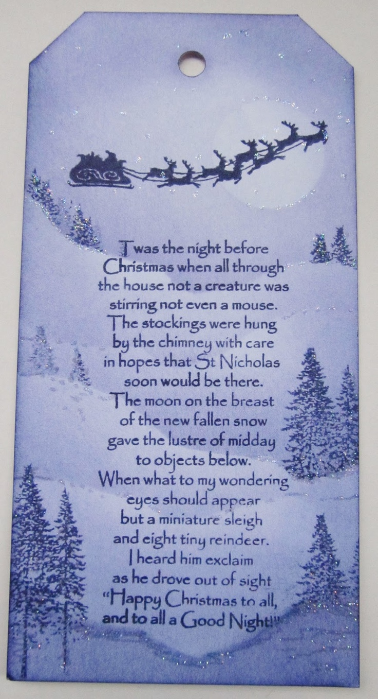 Love Santa and the sleigh and the words! Crafty Salutations: inkylicious