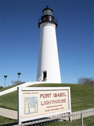 Port Isabel Lighthouse in Port Isabel, TX (just over the long bridge leading to South Padre Island). We went to the top but they wouldn't allow our then 2 year old go up.