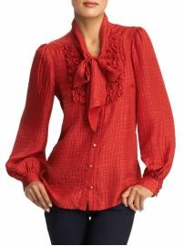 fall 2011 - tie knot blouse (Milly) AKA the beautiful red head from Glee shirt!