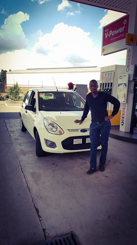 Mr Tshigomana taking delivery of his new Ford Figo Ambiente! #satisfiedclients #cars #thempcargroup #nigel #finance