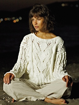 Knit this womens cable sweater from the All Seasons Chunky Collection, a desi...