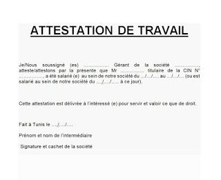 Telecharger Attestation De Travail Word Exemple Attestation De