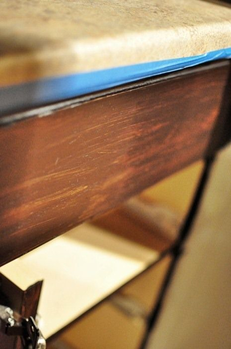 Staining Oak Cabinets an Espresso Color {DIY Tutorial}