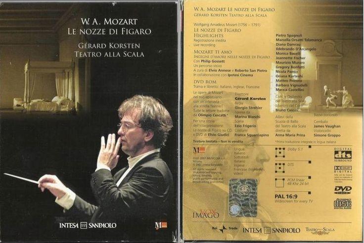 W. A. Mozart   Le nozze di Figaro   - Opera lirica ( DVD + CD )