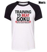 Comprar Gym Training to Beat Goku or At Least Krillin DBZ Pattern Short Sleeve T-Shirt Boy's Men's TShirt Tee Tops em Wish - Comprar ficou mais divertido