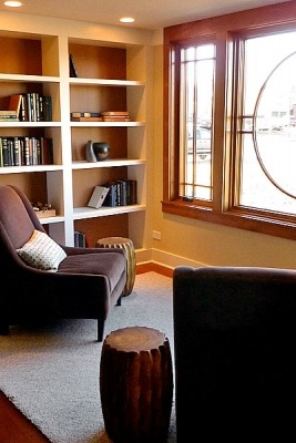 Reading nook - Sarah Susanka's Not So Big House in Libertyville