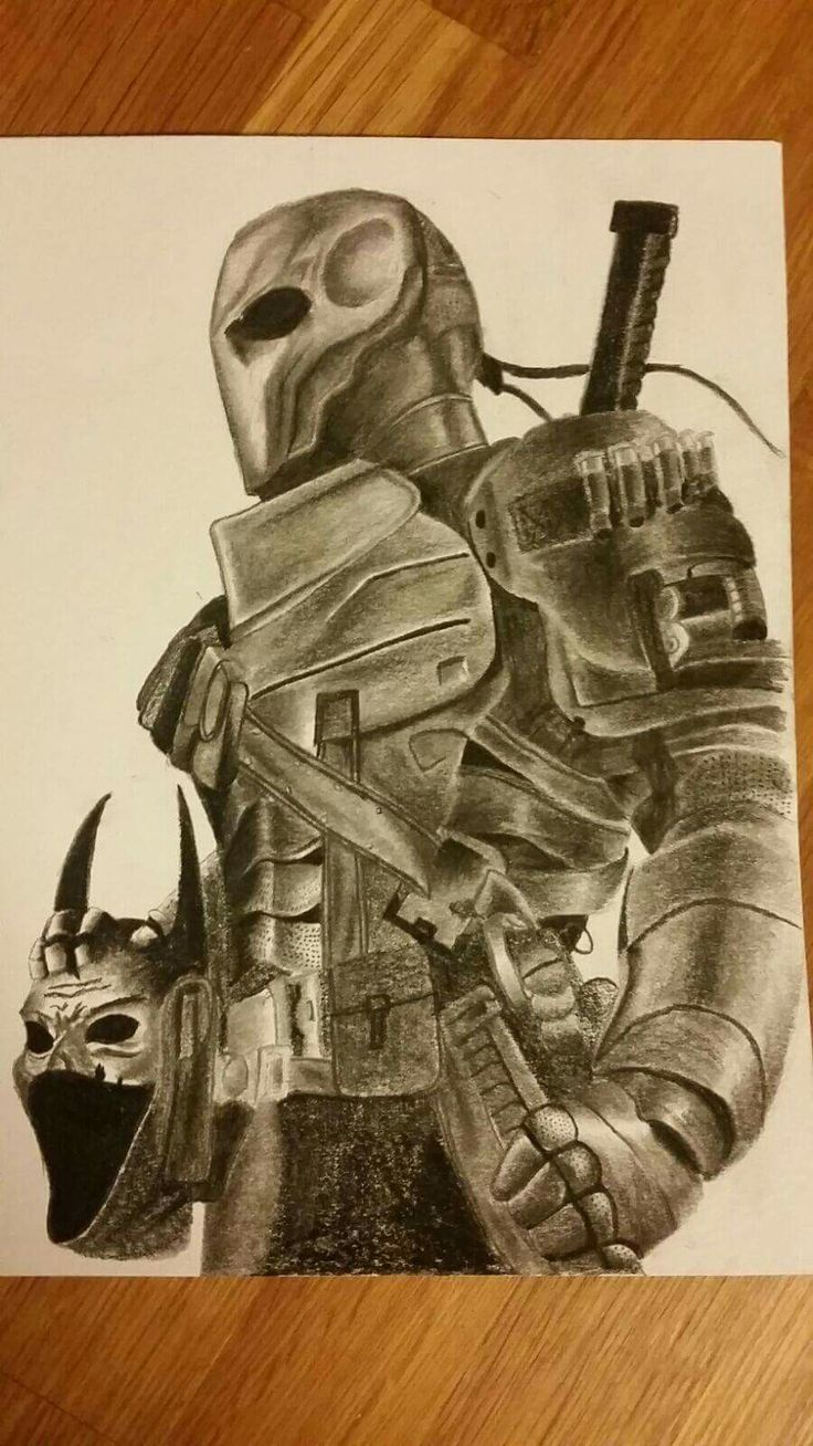 Deathstroke pencil drawing