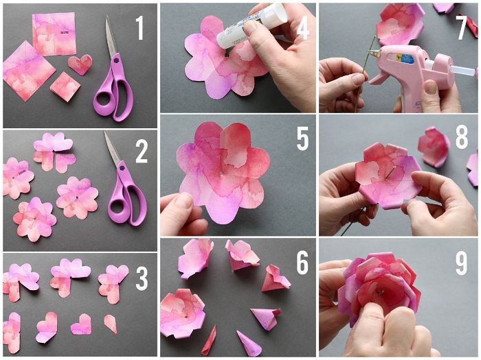1001 Idees Pour Fabriquer Une Rose En Papier Aussi Belle Que La Vraie Rose En Papier Fleur En Papier Facile Tuto Fleurs En Papier