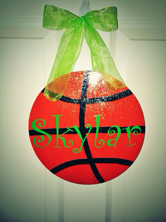 Sporty Girl Basketball Personalized Hanging Sign