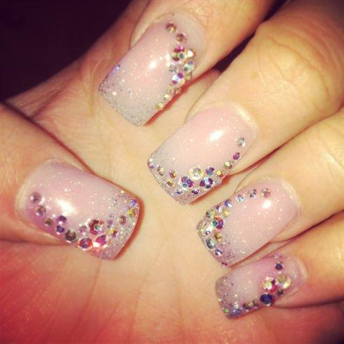 Bridal nails  by Viviannailart - Nail Art Gallery nailartgallery.nailsmag.com by Nails Magazine www.nailsmag.com #nailart